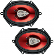 "Boss CH5730 CHAOS EXXTREME 5"" X 7"" 3-Way Speaker Red Poly Injection Cone"