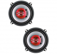 "Boss CH1552 CHAOS EXXTREME 5-1/4"" 3-Way Speaker Red Poly Injection Cone 4-Ohm"