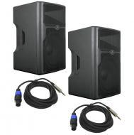 "Peavey (2) PVX15 Pro Audio DJ 800 Watt Plastic 2-Way Passive 15"" PA Speaker Pair with (2) 1/..."