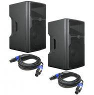 "Peavey (2) PVX15 Pro Audio DJ 800 Watt Plastic 2-Way Passive 15"" PA Speaker Pair with (2) Sp..."