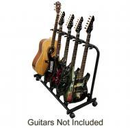 Multi 5 Guitar Rolling Stand Cart Pro Audio Stage, Studio or Display Separate Scratch Free Electr...