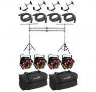 Chauvet DJ Lighting (4) Swarm 5 FX Multi Effect RGBW LED Rotating Derby Laser Light with Truss Sy...