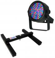 Chauvet DJ Lighting SlimPar 38 Slim Par Can 7CH DMX LED RGB Color Light with Uplighting Floor Stand