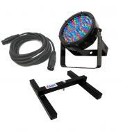 Chauvet DJ Lighting SlimPar 56 IRC IP Outdoor Slim Par Can 7CH DMX LED RGB Color Light with DMX C...