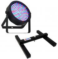 Chauvet DJ Lighting SlimPar 64 Slim Par Can 7CH DMX LED RGB Color Light with Uplighting Floor Stand