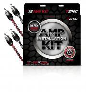 T-Spec V12-DAK4 4800 Watt V12 Series Dual Amplifier Kit with OFC Wires & 2x RCA Cables