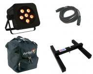 Blizzard DJ Pro Lighting Puck Q6A Unplugged Par Can 6 x 10 Watt LED RGBA Battery Powered Light wi...
