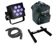 Blizzard DJ Pro Lighting Hotbox RGBA Par Can 7 x 10 watt LED RGBA Stage Wash Light with DMX Cable...