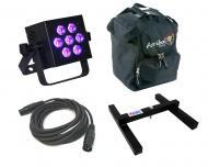 Blizzard DJ Pro Lighting Hotbox 5 RGBWV Par Can 7 x 15 Watt LED RGBW+UV Wash Stage Light with DMX...