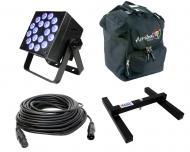 Blizzard DJ Pro Lighting Rokbox 5 RGBVW Par Can 18 x 15 Watt LED RGBW+UV Wash Light with DMX Cabl...