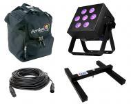 Blizzard DJ Pro Lighting Skybox EXA Par Can 7 x 15 Watt LED RGBAW+UV Wash Battery Powered Light w...