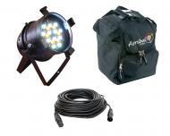 Blizzard DJ Pro Lighting Rocklite AW Par Can 36 x 3 Watt White & Amber LED Light with 50FT DM...