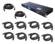 Blizzard DJ Pro Lighting Autobahn 8 Universe DMX to Ethernet Interface Controller with DMX Cables