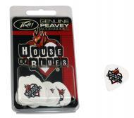 Peavey 3019610 House of Blues Heavy Gauge 351 Pick Pack in Clam Shell