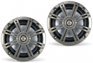 "Kicker KM652C 6.5"" Speakers Charcoal KM-Series Marine Coaxial 2-Ohm (41KM652C)"