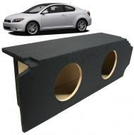 "2005-2010 Scion TC Coupe Custom Fit Dual 10"" Subwoofer Enclosure Sealed Sub Box"
