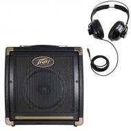 "Peavey Ecoustic E20 Combo Amp 20 Watt Acoustic 8"" Guitar Amplifier with Practice Headphones"