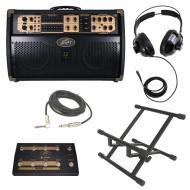 """Peavey Ecoustic Session 300 Combo Amp 300 Watt Acoustic (2) 8"""" Guitar Amplifier with Foot Co..."""