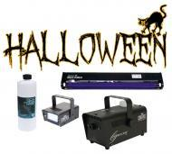 "Halloween Chauvet H700 Fog Smoke Machine with Fluid, 24"" Blacklight & Strobe Light Package"