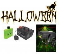 Halloween American DJ Micro Star Red & Green Laser Effect Light with Mini Fog Smoke Machine
