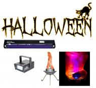"Halloween Chauvet Bob LED Simulated Flame Effect with 24"" Blacklight & Mini Strobe LED L..."