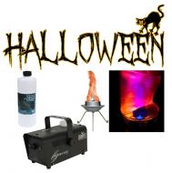 Halloween Chauvet Bob LED Simulated Flame Effect with H700 Fog Smoke Machine with Fluid
