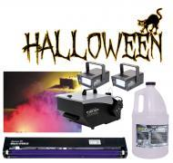"Halloween American DJ Mister Kool Low Laying Fog Machine & Fluid with 24"" Black & (2..."