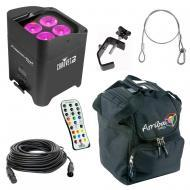 Chauvet DJ Lighting Freedom Par Hex 4 Battery Powered RGBAW+UV LED Wash Light with Travel Bag, Ca...