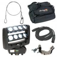 American DJ Lighting Crazy 8 Moving Head 8 Zone Sweeping Light with Bag, Clamp & Cables