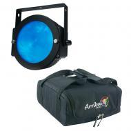 American DJ Lighting Dotz Par Slim Profile RGB Wash or Pixel Map Light with Travel Bag