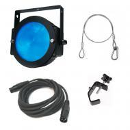 American DJ Lighting Dotz Par Slim Profile RGB Wash or Pixel Map Light with Clamp & Cables