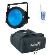 American DJ Lighting Dotz Par Slim Profile RGB Wash or Pixel Map Light with RF Remote & Trave...