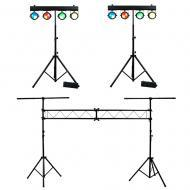 (2) American DJ Lighting Dotz TPar System Slim COB LED Stands with Tripod Truss Package
