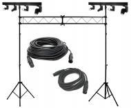(2) American DJ Lighting Event Pro 4 Head Pinspot White LED Light with Truss System & DMX Cables