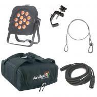 American DJ Flat Par TW12 Slim Cool Warm White & Amber LED Light with Bag, Clamp & Cables