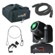 American DJ Lighting Inno Pocket Spot Moving Head Color Gobo Light with Bag, Clamp & Cables