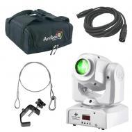 American DJ Lighting Inno Pocket Spot Pearl Moving Head Color Gobo Light with Bag, Clamp & Ca...