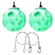 (2) American DJ Jelly Globe Rotating Transparent Color Strobe Effect Light with Clamp