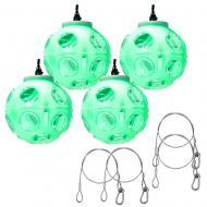 (4) American DJ Jelly Globe Rotating Transparent Color Strobe Effect Light with Clamp