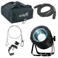 American DJ Lightning COB Cannon Bright Strobe Effect Wash Light with Travel Bag, Clamp & Cables