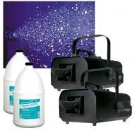 (2) American DJ VF Flurry Hiigh Output 600W Snow Machine with (2) Gallon Fluid Package
