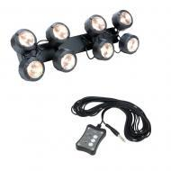 American DJ Octo Beam WW 8-Head White LED Beam Fixture w/ UC3 3Switch Controller