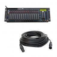 American DJ Wifly WLC16 16-Channel DMX Controller w/ 50-Foot Professional Cable