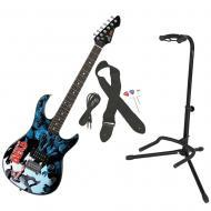 Peavey The Walking Dead Carl Surrounded 50 Rockmaster Electric Guitar w/ Stand