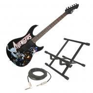 Peavey Marvel Avengers Predator Plus EXP Electric Guitar w/ Amp Stand & Cable