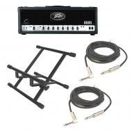 Peavey 6505 120W Guitar Amplifier w/ Amp Floor Stand & (2) 15Ft Instrument Cable