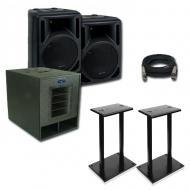 American Audio Pro Former 1015X Loudspeaker Package w/ (2) Steel Speaker Stands
