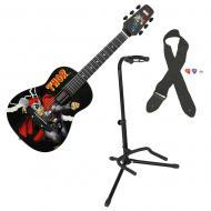 Peavey Marvel Thor 1/2 Size Acoustic Guitar w/ GFW-GTR-1000 Instrument Stand