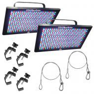 Chauvet 2 LED-PALET COLORpalatte Lighting Fixture Package w/ 4 Clamp & 2 Cable