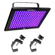 Chauvet TFX-UVLED LED UV Blacklight Panel Fixture Package w/ (2) ASC-HOOK Clamp